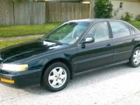 we are selling a 1997 Honda accord ex 4door V6 auto