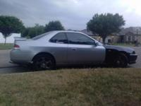 1997 honda prelude, silver with black jdm front end,5