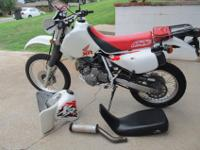 1997 Honda XR650L dual purpose motorcycle, 3 owners.