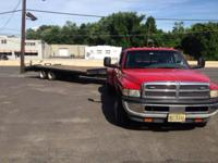 97 10 ton tandem dual 18' flat deck 5' dove tail with