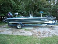 1997 Hydra-sports LS185 bass boat for sale. 181/2 ft,
