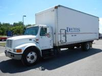 1997 International 4700 T444E Box Truck with Insulation