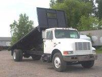 STOCK # J-18 1997 INTERNATIONAL 4900 22? STEEL FLATBED