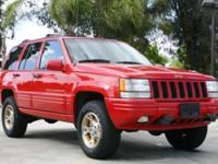 Options Included: N/AThis is a beautiful 1997 JEEP