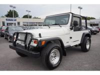 1997 Stone White Jeep Wrangler SE...CLEAN