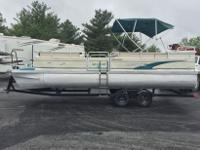 1997 Lowe Family 245 nice 24 1/2 foot pontoon with a