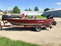 This is a 1997 Lund 1700 Pro Angler SS that is powered