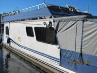 13 x 45 houseboat aluminum pontoons so you can pull up
