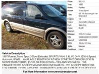 1997 Pontiac Trans Sport 3-Door Extended SPORTS VAN!