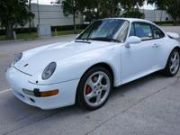 1997 PORSCHE 911 TWIN TURBO, GLACIER WHITE/MIDNIGHT