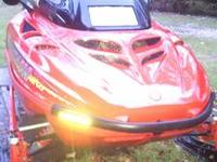 This is a 1997 Ski Doo Formula 500 with electric start,