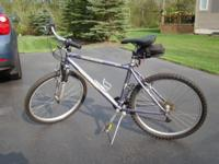 "26"" aluminum 17"" frame...grip shift...new tires...great"