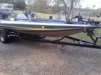 Stratos 201 PRO ELITE Bass Boat 225 JOHNSON ,TANDEM