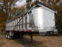 1997 Ti-Brook Aluminum Dump Trailer, 28 ft. body, steel