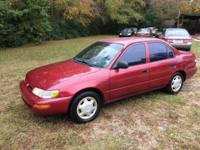 1997 Toyota Corolla Asking $3000.00..OBO. No