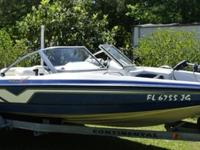 1997 Tracker Marine Nitro Fish and Ski Bass boat. We