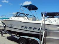 1997 Trophy Cuddy Cabin 20'. Powered with a 175 Johnson