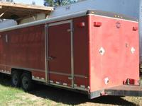 "1977 Wells Cargo trailer 8'X20'X6'6"" custom built for"