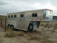 1997 Featherlite Model 8544, aluminum, 3 horse, slant