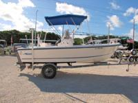 This 1998 17' Mako Center Console is powered by a