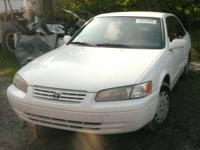 Parting out a 1998 Toyota Camry, 4-cyl, white.