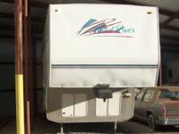 1998 35' Wind River by Pla-mor fifth wheel with two