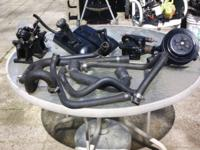 good condition engine parts manifolds heads water pump