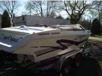 Great go quickly boat with a 7.4 L Merc Cruiser Engine.