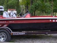 1998 Charger Bass Boat with 200 Mercury Motor 19 ft.