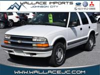 Clean CARFAX. Summit White 1998 Chevrolet Blazer LS 4WD