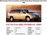 1998 Chrysler Town&Country LXi All-wheel Drive