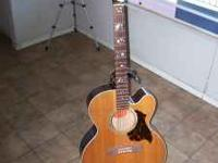 1998 EC 20 GIBSON ACUSTIC STARBURST LIKE NEW WITH CASE,