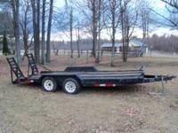 1998 Equipment Trailer for sale. 16' long with loading