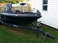 1998 Fisher FX18 Tournament 19' Bass Boat.