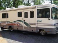 Very rare model 24D puts this motorhome at exactly 24'