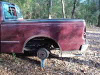 1998 FORD F150 TRUCK BED WITH TAIL GATE, WITHOUT