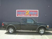 Options Included: This Black 1998 Ford Ranger XLT Comes