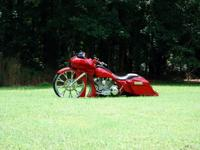 Custom Bagger started as 1998 Electra Glide. Stripped