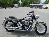 1998 Harley-Davidson FLSTF BURGUNDY AND BEIGE 47506