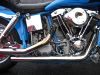 1998 CUSTOM BUILT FXWG SHOVELHEAD CHOPPER , DELCRON