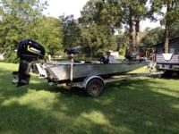 1998 Homemade aluminum boat on 1998 magic tilt trailer,