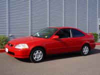 It's hard to resist this red 1998 Honda Civic EX! It