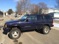 This 1998 Jeep Cherokee Classic Purple Beast is the