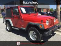 New Price! 1998 Jeep Wrangler Sport Flame Red
