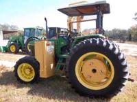 1998 John Deere 6400 (85hp) 4x4 Farm Tractor with a