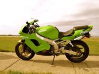 For sale is a 1998 Kawasaki Ninja ZX-9R with about