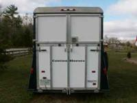1998 Kingston Aluminum x-tall, x-wide 2-horse trailer