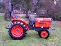 Nice 1998 Kubota L2500F Two Wheel Drive Tractor with