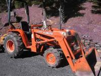1998 Kubota Tractor Model B2150 HST with Backhoe and