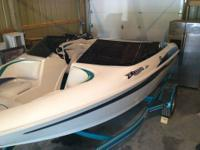 This is a very nice 1998 larson 17' fish and ski